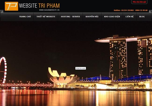 saigonwebsite.vn Company Limited服务网站Tri Pham